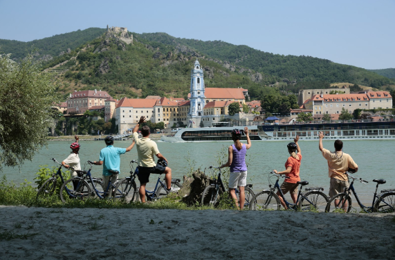 AmaWaterways bicycle tour along Danube River