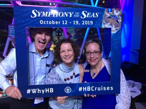 [Caption: Your HB Cruises Team: Todd Dunlap, Joyce Landry, and Vicki Fernandez]